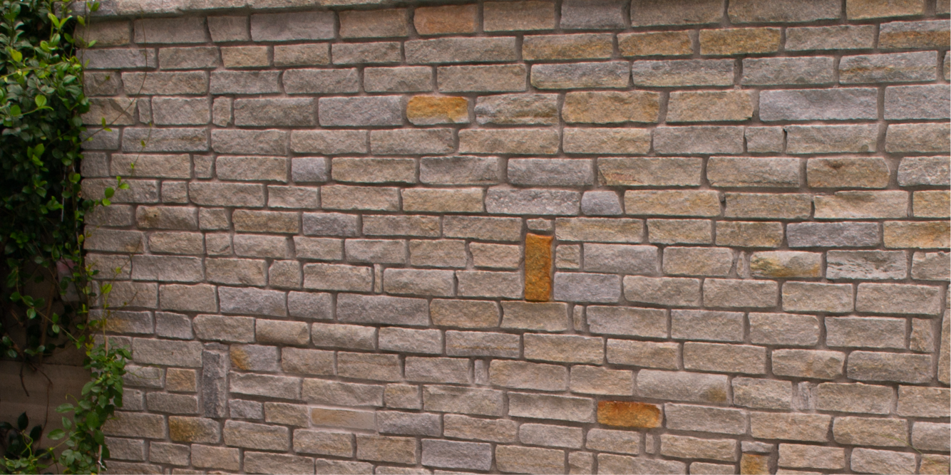 Rivestimento in pietra squadrata