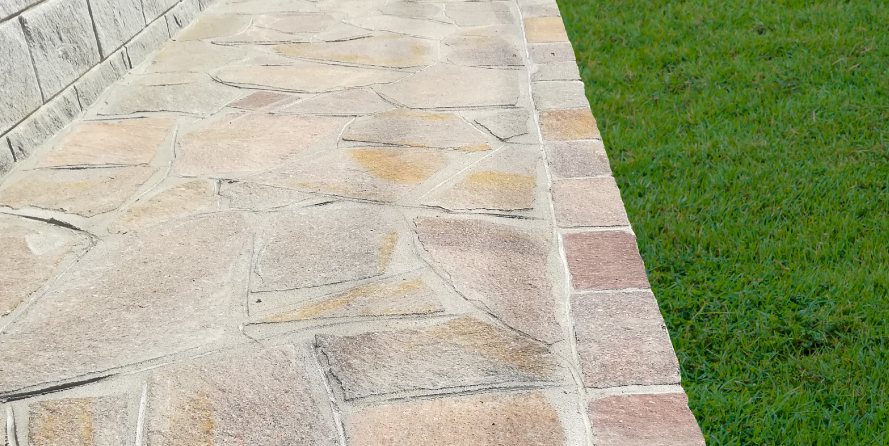 Pavimentazione in pietra a mosaico